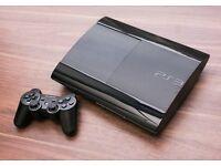 PS3 Slim 12gb + 120gb hard drive extension