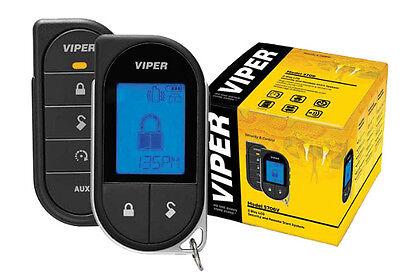 VIPER 5706V 2 WAY CAR ALARM REMOTE START KEYLESS SYSTEM LCD PAGER 5704 DEI