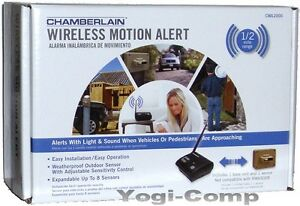 Chamberlain-CWA2000-Outdoor-Wireless-Driveway-Motion-Alert-Alarm-System-NEW