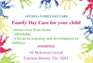Ayusha's Family Day Care Carrum Downs Frankston Area Preview