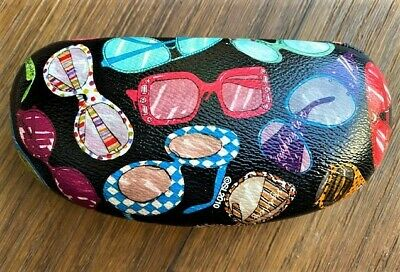 Sydney Love Eyeglass Sunglass Case Black Polka Dot Hard (Sunglass Sydney)