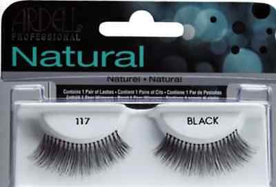 (LOT OF 72) Ardell Natural Lashes #117 False Fake Eyelashes Fashion Black