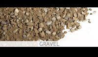 Cheap gravel service with stone slinger and dump truck delivery
