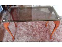 Glass coffee table x 2