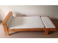 Ikea Children's Vikare Pine extendable bed