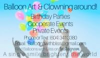 Balloon Animal Artist! Parties + Events