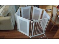 White Playpen, excellent condition with wall attachments