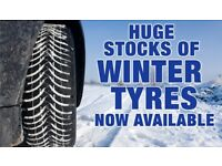 4x Part Worn Winter Tyres from £80 all inc.