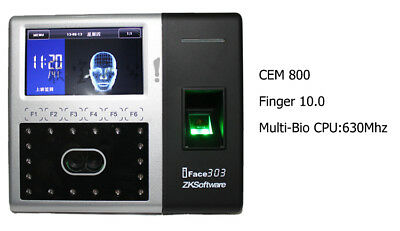 Zksoftware Iface303 1500faces Finger Printer Time Attendance Multi-biometric