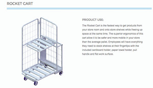 DISTRIBUTION CART - ROCKET CART