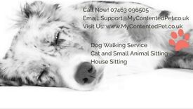 My Contented Pet: Dog Walkers, Pet Sitters & Small Pet Boarding. Experienced, Trustworthy, Insured