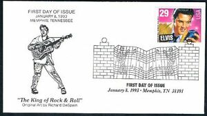 1993-Elvis-Presley-First-Day-Cover-FDC-King-of-Rock-Roll-Memphis-Collectibles