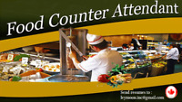 Food Counter Attendant needed for a new restaurant (PT/ FT)