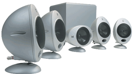 Kef Surround Sound speaker package w stands/cables