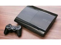 Super Slim PS3 500gb with 16 games and 2 controllers