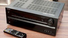 Onkyo Txnr 414 Black surround sound amplifier