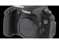 DSLR CANON 60D CAMERA FOR SALE [EXCELLENT CONDITION]- £280 with Camera Bag included (BODY ONLY)