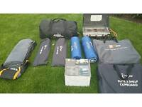 Vango icarus 500 family 4 berth tent with carpet and:lots of other equipment