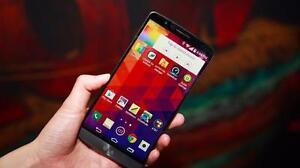MINT LG G3 BLACK UNLOCKED 3 MONTHS WARRANTY $89.99