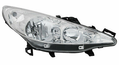 PEUGEOT 207 2006-2013  HEADLIGHT HEADLAMP RH RIGHT DRIVER SIDE OFF SIDE