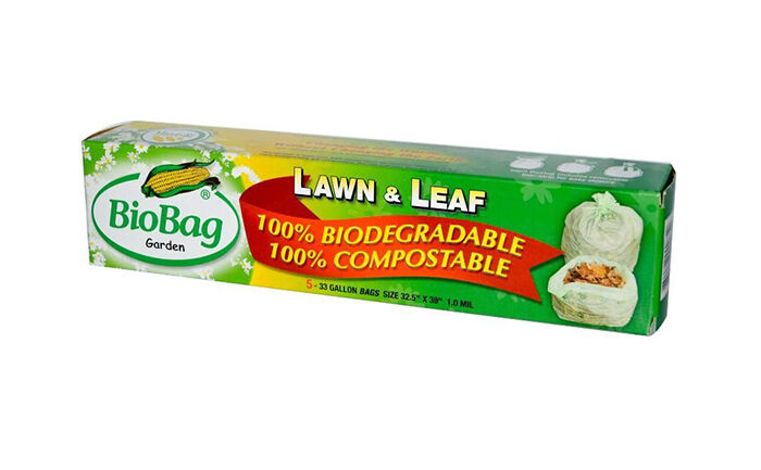 Bio Bag Compostable Plastic Lawn and Leaf Bags