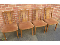 x4 Vintage G-Plan Dining Room Chairs