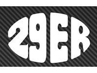 29er MTB Bike Vinyl Sticker Car Window Decal specialized gary fisher giant niner