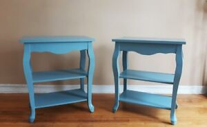 Baby Blue Side Tables