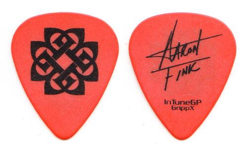 Breaking Benjamin Aaron Fink Signature Orange Guitar Pick - 2008 Phobia Tour