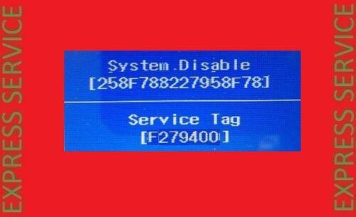 DELL BIOS PASSWORD REMOVAL UNLOCK SERVICE + ALIENWARE + LATITUDE SYSTEM DISABLED