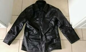 THICK LEATHER JACKET EUC XL