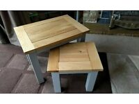 Oak Furniture Land ST. Ives nest of tables