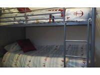 Grey metal bunkbeds