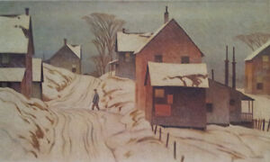 "A.J. Casson ""Grey Day"" Lithograph - Appraised at $800"