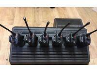Motorola GP340 WALKIE TALKIE Set x6 with Charging Base and Handsfree UHF SPARE BATTERIES