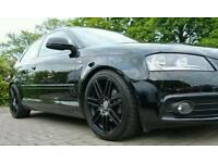 "Replica 18"" Audi S Line Black Edition Alloys A3 A4 TT VW Golf Seat Leon 5x112"