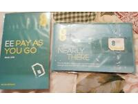 BRAND NEW EE SIM CARD ×1 WITH £15 CREDIT ON IT PAYG