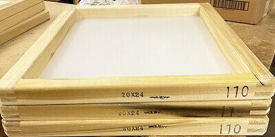 3 Pack 20x24 Wood Screen Printing Frame W 110 Mesh 2024110