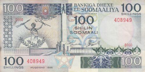 Somalia Banknote P35c 100 Shilin 1988, EF
