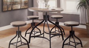Industrial Style Bistro Table And Stools