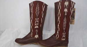 Women's Reef'Santa Marta' Brown Leather/ Hand Woven boots