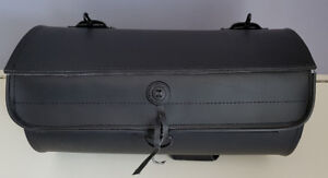 Leather Top Roll Bag