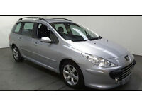 2007(07)PEUGEOT 307 ESTATE 1.6 HDi MET SILVER,2 OWNER,LOW MILES,CLEAN CAR