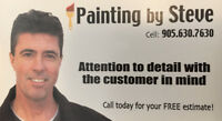 PAINTING BY STEVE   905 630 7630  Call or Text