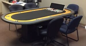 10 man Poker Table with stainless steel cup holders