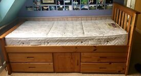 Solid pine single captains storage cabin bed PRICE REDUCED