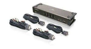 4-Port DVI KVM Switch with cables