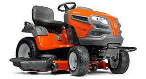 Are you ready for spring? Husqvarna Ride-On Tractors are here!
