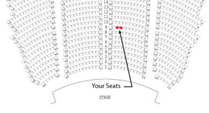 Morrissey - Monday show - 2 pair - Orchestra, row 8 & 9
