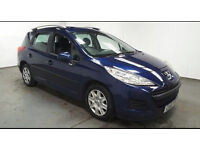 2010(10)PEUGEOT 207 1.6 HDi SW ESTATE MET BLUE,NEW MOT,2 OWNER,£20 TAX,CLEAN CAR,GREAT VALUE